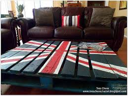 FurnitureRustic Country Living Room Ideas With Sqaure Low Union Flag Pallet Wood Coffee Tabel