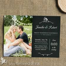 Black Chalkboard Photo Wedding Invitation Kits IWI317