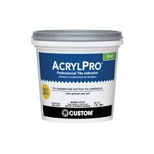 custom building products acrylpro 1 qt ceramic tile adhesive