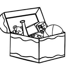 Kid Toy Box Coloring Page