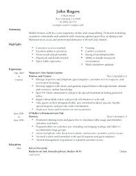 Host Resume Examples For Hostess Best Example Throughout Sample Job