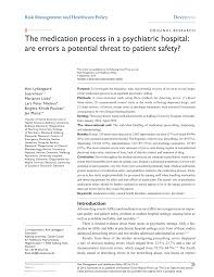 Automated Dispensing Cabinets Comparison by The Medication Process In A Psychiatric Hospital Are Errors A