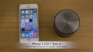 iPhone 5 iOS 7 Beta 4 Mini Portable Bluetooth 4 0 Speaker Anker
