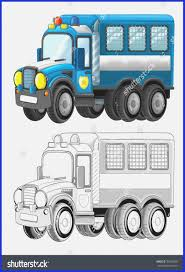 Semi Truck Coloring Page Royalty Free Stock Illustration Of Cartoon ...
