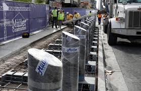 11 Best Bollards Ballards Crash Crews Installing Steel Posts Along Las Vegas Sidewalks Las
