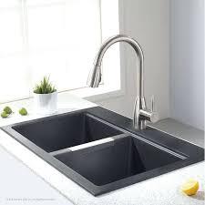 granite basin kitchen sink kohler 33 x 22 black single bowl