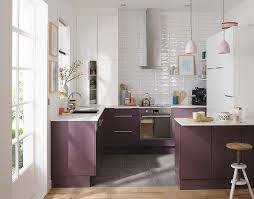 meuble de cuisine blanc et violine castorama
