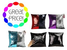 Kohl s As Seen TV Mermaid Shimmer Sequin Throw Pillow $7 47