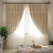sunnyrain 1 stück beige doppel schicht vorhang für wohnzimmer blackout vorhänge für schlafzimmer kinder zimmer vorhänge anpassbare