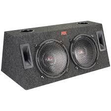 100 Speaker Boxes For Trucks MTX TW122 Road Thunder Dual 12 FullRange Wedg