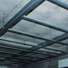 système d ossature pour plafond suspendu longue portée i clic
