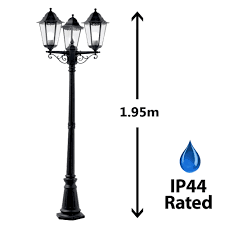 Ebay Antique Lamps Vintage by Victorian Style 3 Way Outdoor Garden Street Light Lamp Post