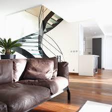 cap canapé mobilier contemporain réalisation maison cap brun