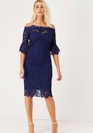 buy paper dolls bardot crochet lace dress navy mcelhinneys