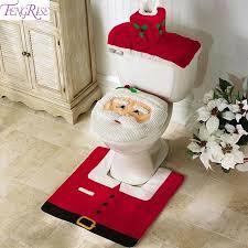 fengrise weihnachten wc abdeckung teppich frohe weihnachten dekoration für home weihnachten badezimmer dekor navidad 2020 frohes neues jahr 2021