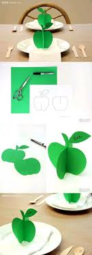 How To Make 3D Paper Apple Ornament Step By DIY Tutorial Instructions