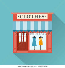 Clothing Store Building Clipart Stock Vector Clothes Icon