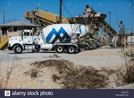 A Martin Marietta Logo On Cement Trucks In San Antonio, Texas On ...