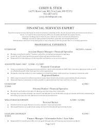 Banker Resume Personal Examples