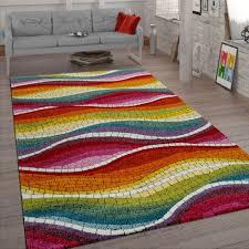 retro rug mosaic design colourful