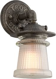 troy b4351 pearl vintage solid aluminum outdoor wall sconce
