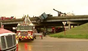 Trucker Killed In Fiery Crash That Left Rig Dangling From Dallas ...
