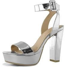 dailyshoes womens chunky heel sandal open toe wedding platform