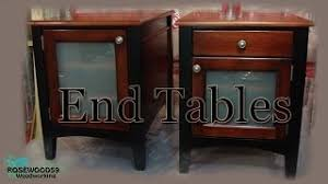 Plans To Make End Tables by How To Make 2 End Tables U0026 Plans Youtube