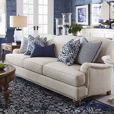 Essex Sofa From Bassett Beautiful Blue And Cream Living Room Decor