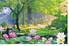 ヾ ノcustom foto tapete wand wandmalereien lotus