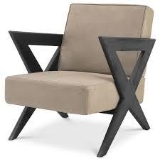 casa padrino luxus echtleder sessel beige schwarz 63 x 79 x h 76 cm wohnzimmer sessel mit edlem büffelleder luxus möbel