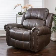 Oversized Recliner Chairs For Living Room Lazy Boy Faux Leather