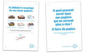 recyclage papier bureau le tri au bureau affiches ecofolio