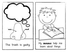 Fabulous Five Senses Picture Sort Emergent Reader For Young Students