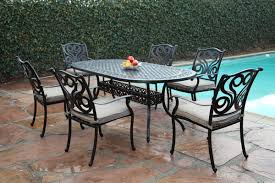 Darlee Patio Furniture Nassau by Cbm Outdoor Cast Aluminum 7 Piece Dining Set G With Cushions