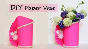 DIY Projects Video Paper Flower Vase Making