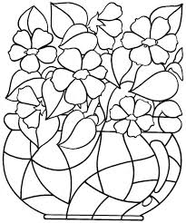 Printable Adult Flower Coloring Pages Archives Flowers Spring For Adults Free Princess Of In A Vase