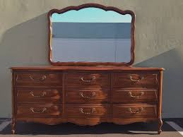 John Widdicomb Dresser Mirror by French Provincial Dressing Table With Mirror
