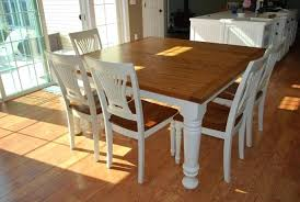 Black Farmhouse Table Dinning Dining Set Distressed Wood Tables For Sale