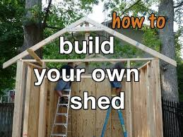 how to build a storage shed in 10 easy steps diy project youtube