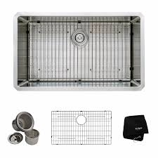 Stainless Steel Utility Sink With Right Drainboard by Kraus Khu100 32 32 Inch 16 Gauge Undermount Single Bowl Stainless