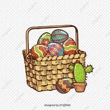 Dibujo Coloreado A Mano Los Huevos De Pascua Cartoon