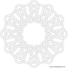 Fabulous Celtic Knot Coloring Pages With And Alphabet