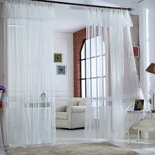 Flowing Light White Solid Lace Curtains For Dining Room