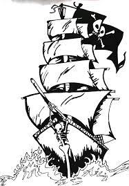 Pirate Ship Pumpkin Stencil by Pirate Ship Tattoo Stencil