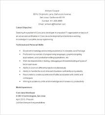 1 Year Experience Java Developer Resume Objective Tier Brianhenry Co Template Printable