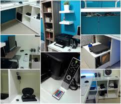 Linnmon Alex Desk Black by Ikea Kallax Linnmon Desk Hack Ikea Hackers Ikea Hackers