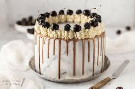 marmor bronze drip cake torte