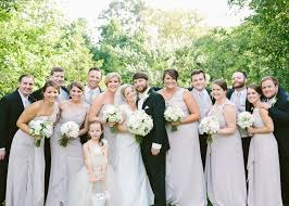 Neutral Bridal Party Attire Ideas