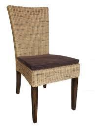 rattanstuhl rattan esszimmerstuhl stuhl mit sitzkissen küchenstuhl naturrattan
